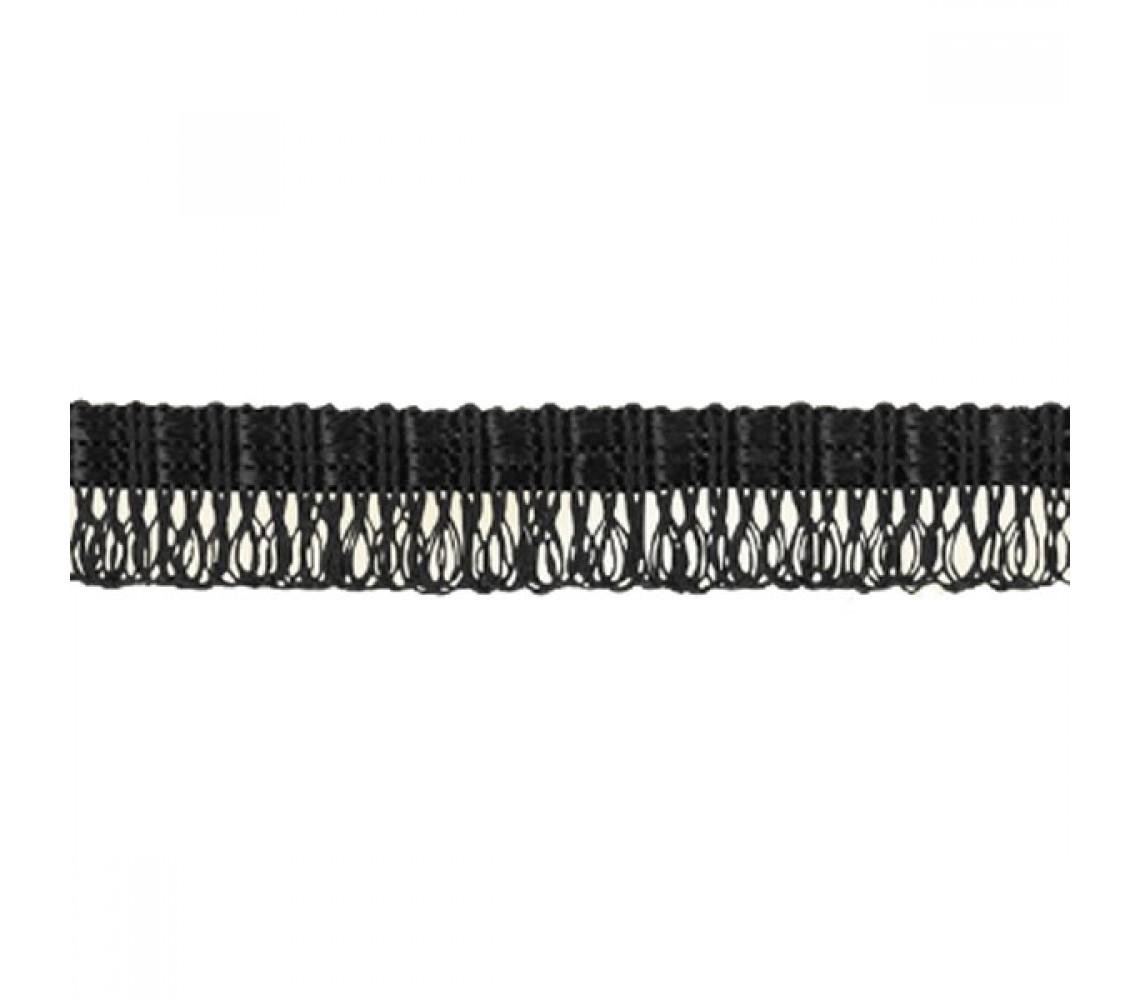 Beryl Pennant Fringe Black 22mm