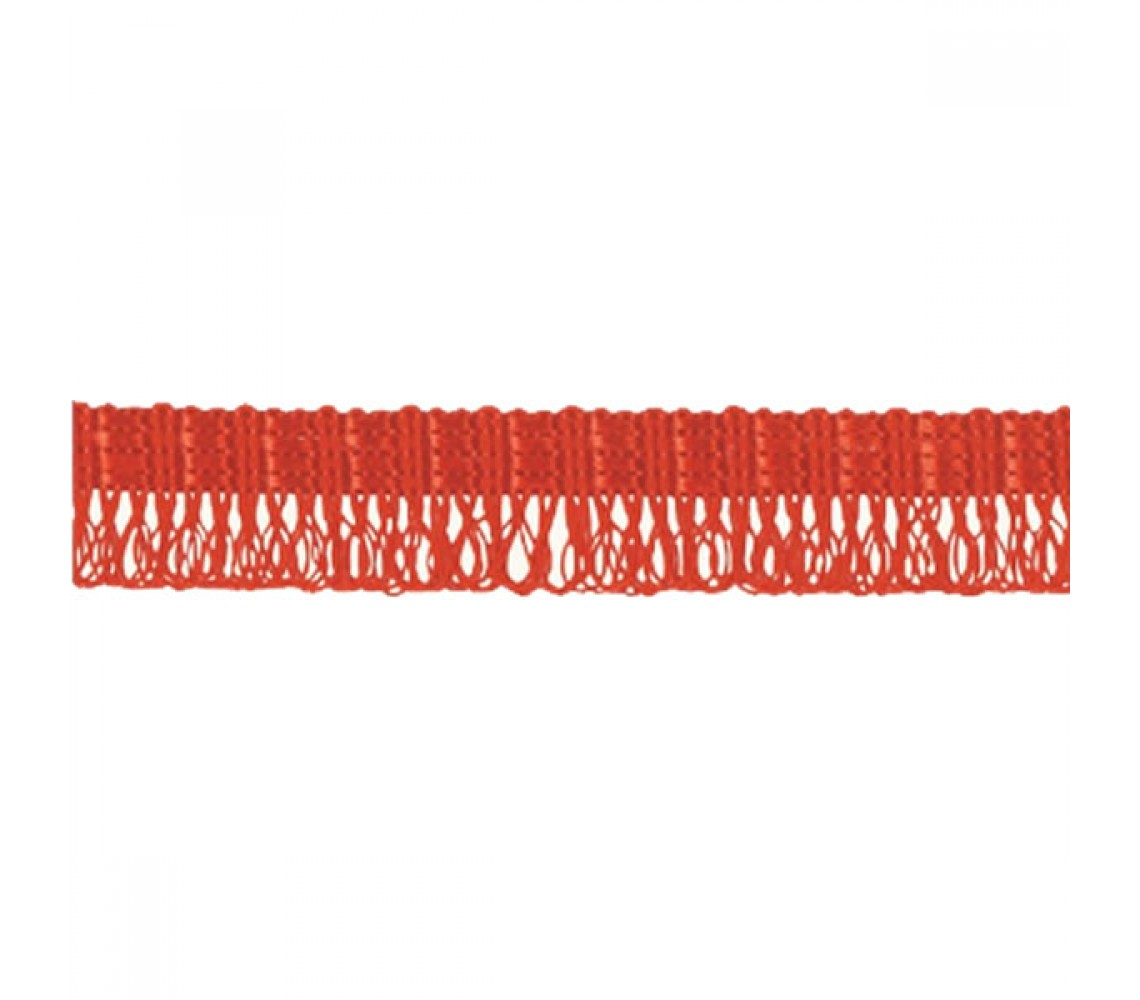 Beryl Pennant Fringe Red 22mm