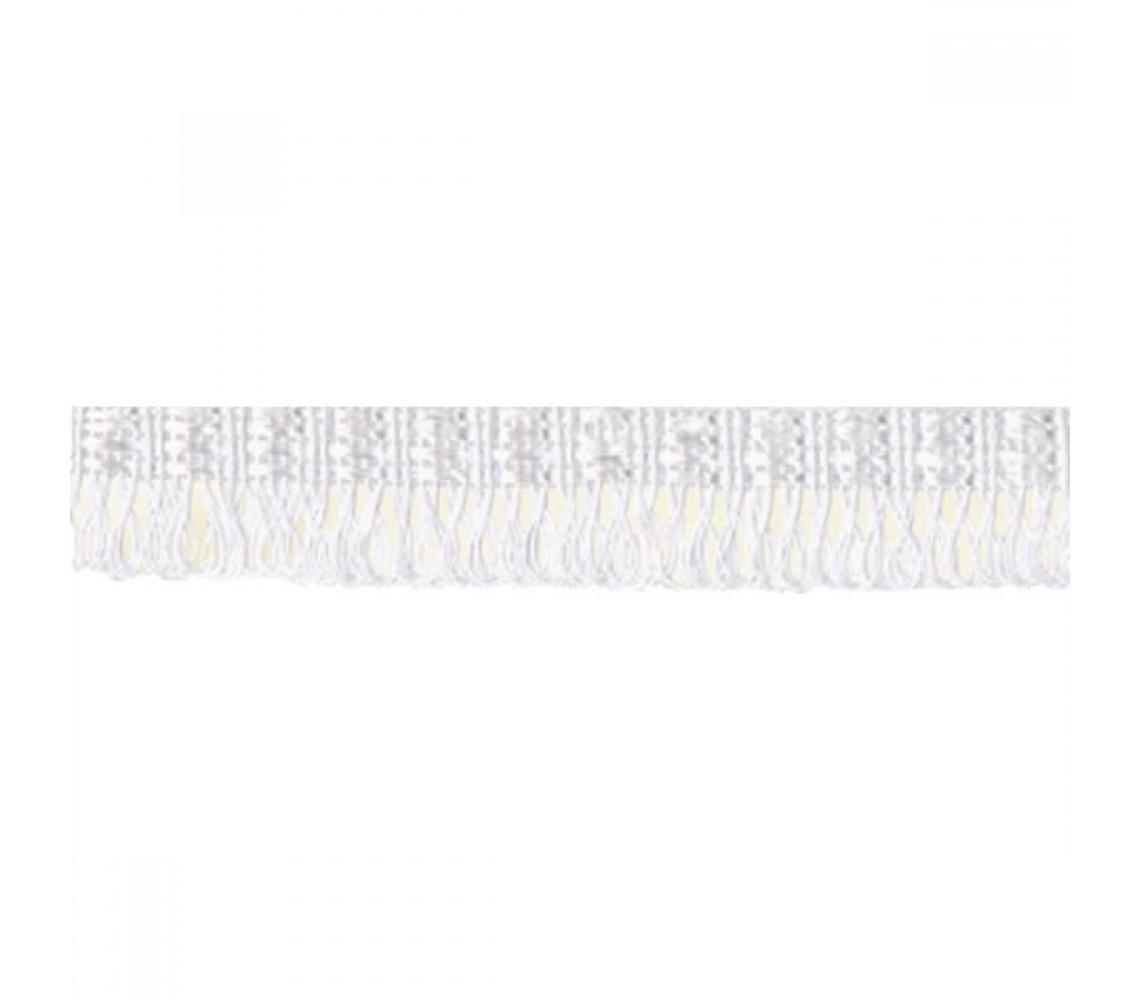 Beryl Pennant Fringe White 22mm